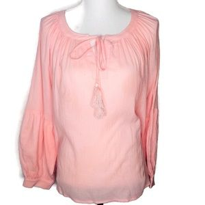 VeryJ large blush color blouse.  Light weight. NWT